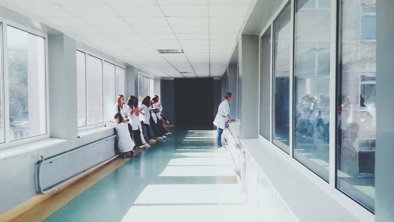 healthcare hospital hallway